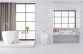 badeværelse med varme i gulvet