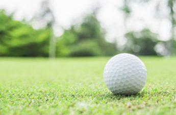 golfbold med logo